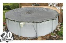 Winter Pool Cover - Above Ground Pool- 20 Year Warranty - Silver